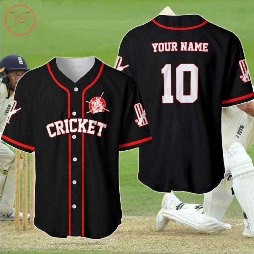 Custom Cricket Black Baseball Jersey