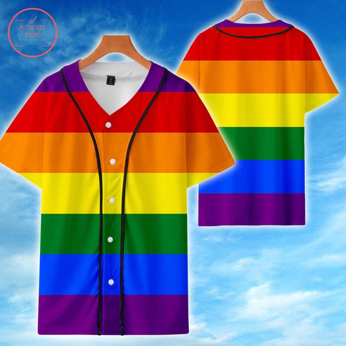 Custom LGBT Rainbow love Baseball Jersey