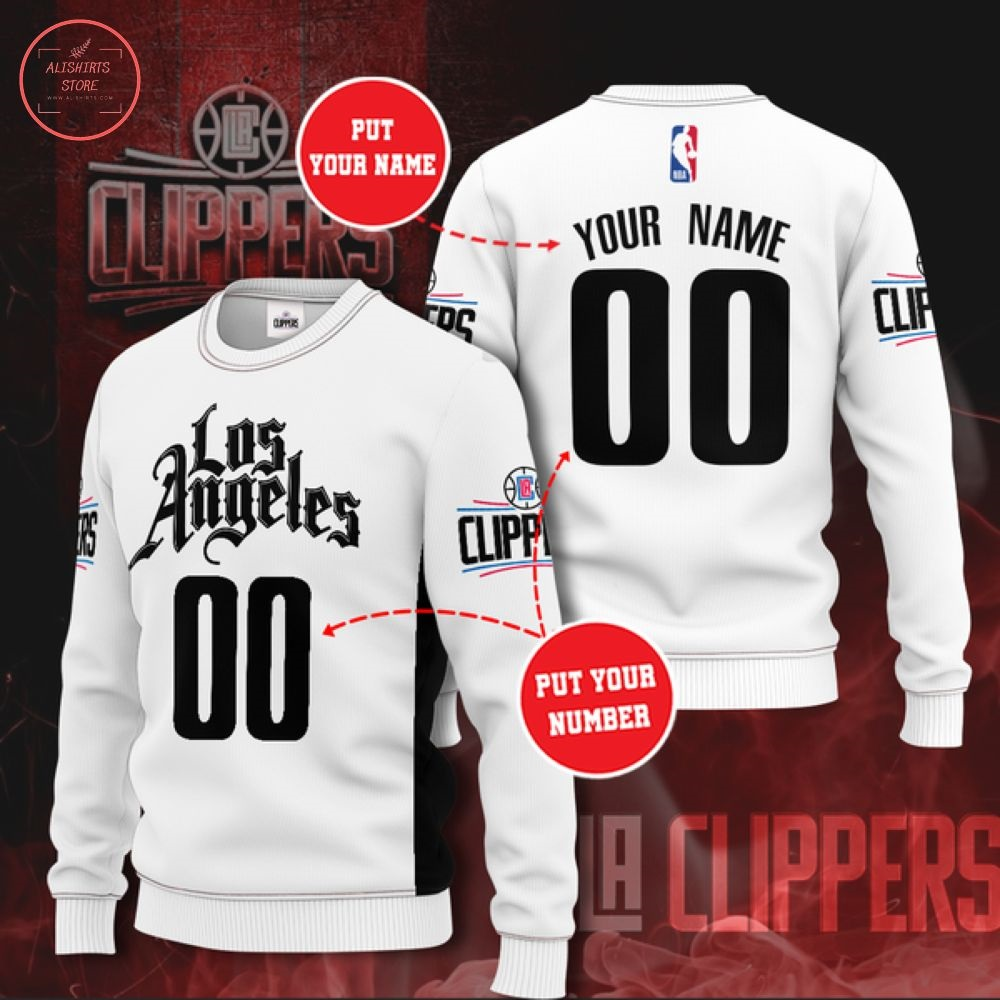 Custom NBA Los Angeles Clippers Sweater