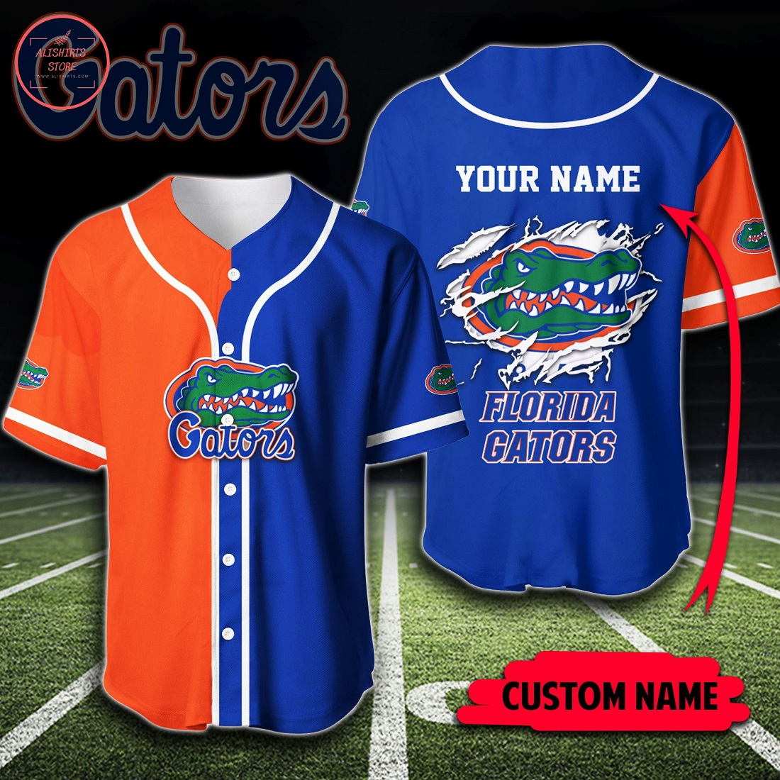 Custom Name NCAA Florida Gators Baseball Jersey