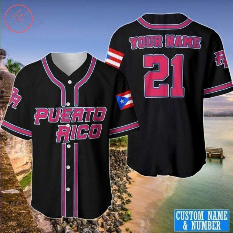 Custom Puerto Rico Baseball Jersey