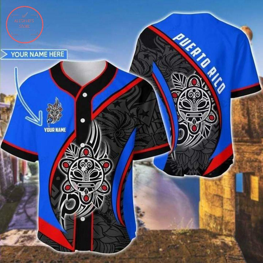 Custom Sol Taino Puerto Rico Baseball Jersey
