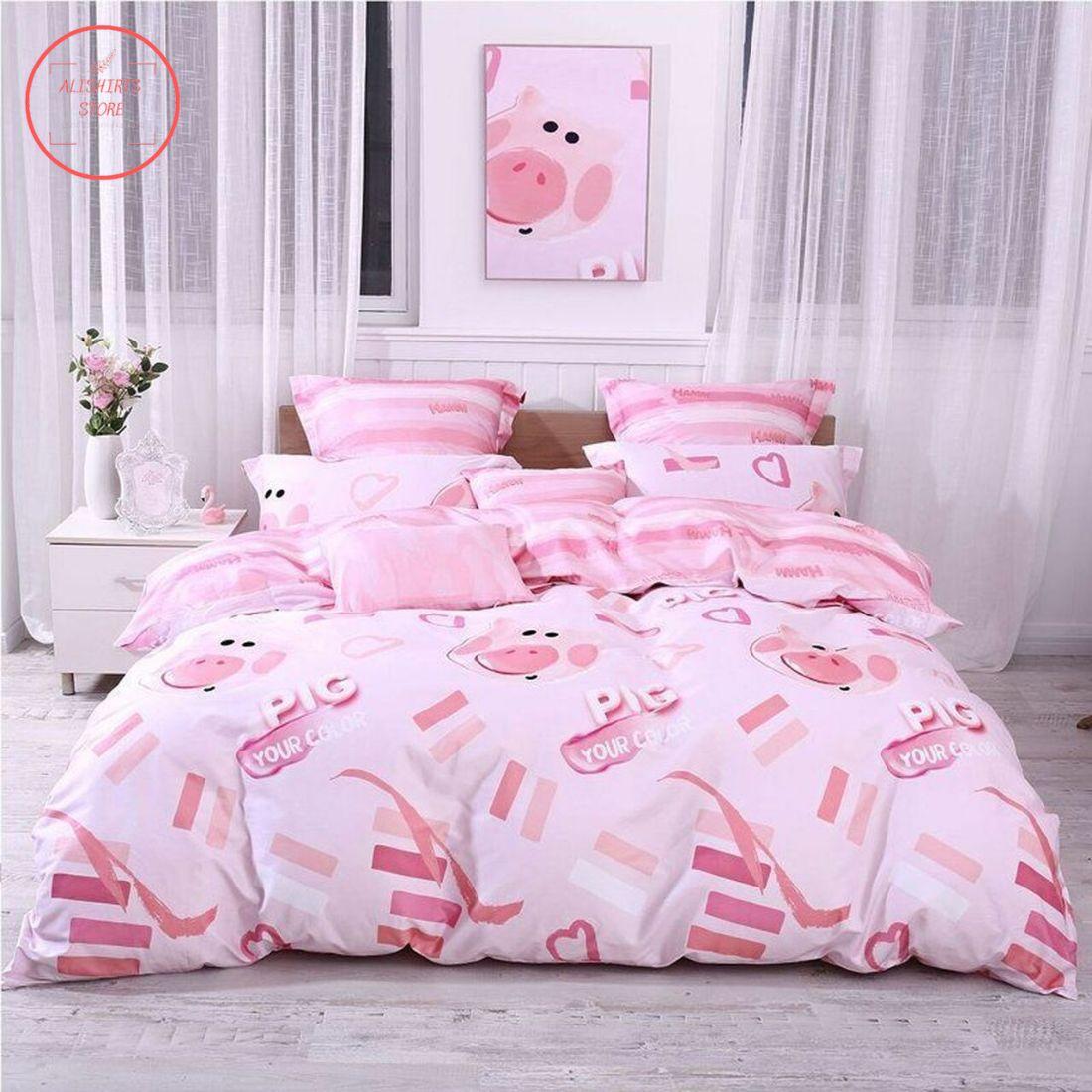 Cute Pig Girls Bedding Set