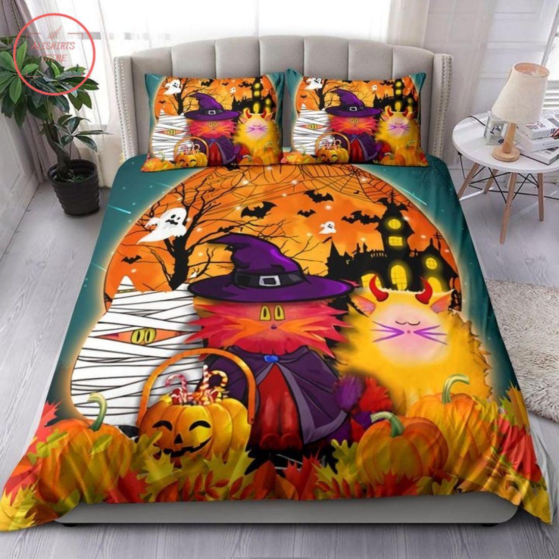 Cat Cosplay Witch Mummy Halloween Blanket