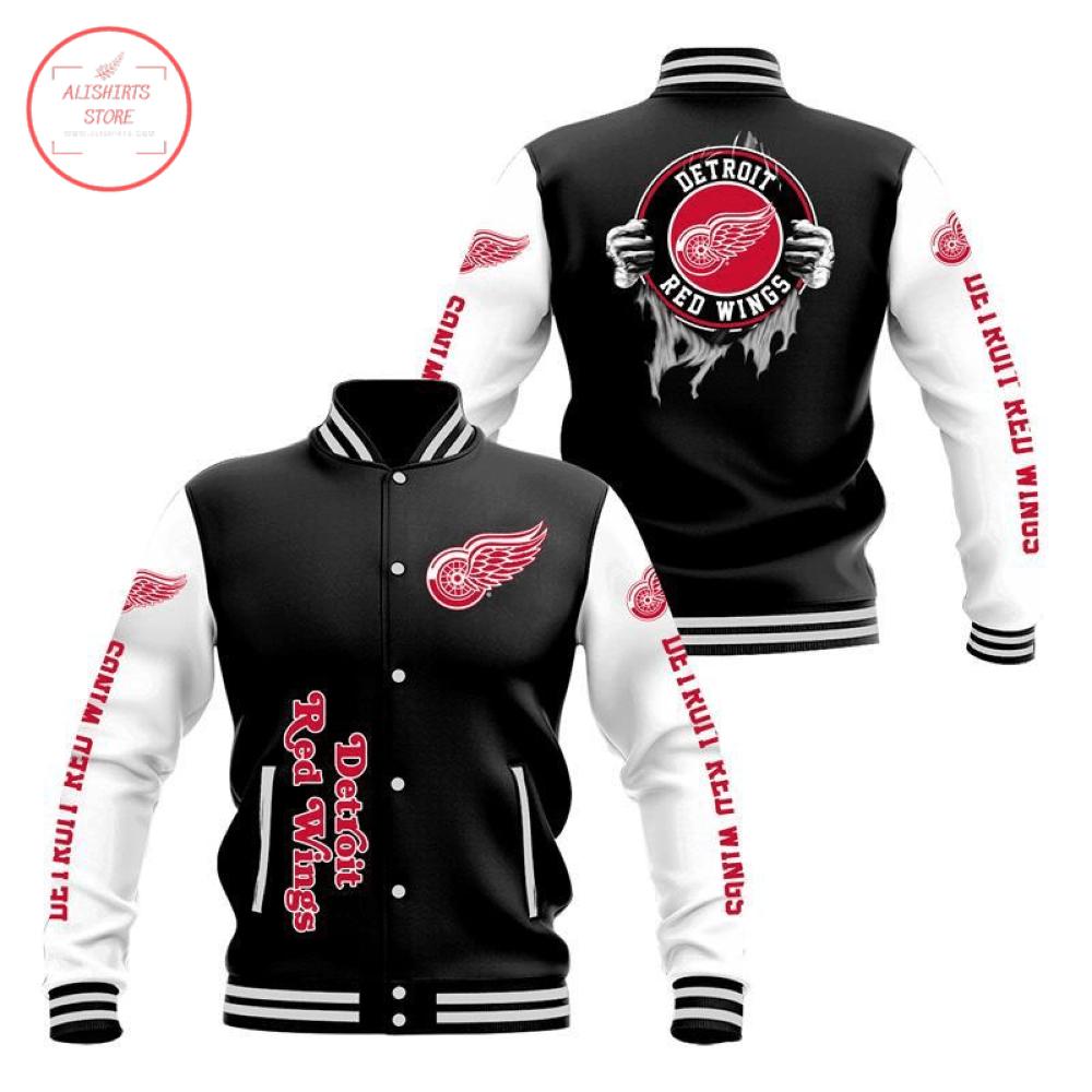 Detroit Red Wings 3D Baseball Jacket