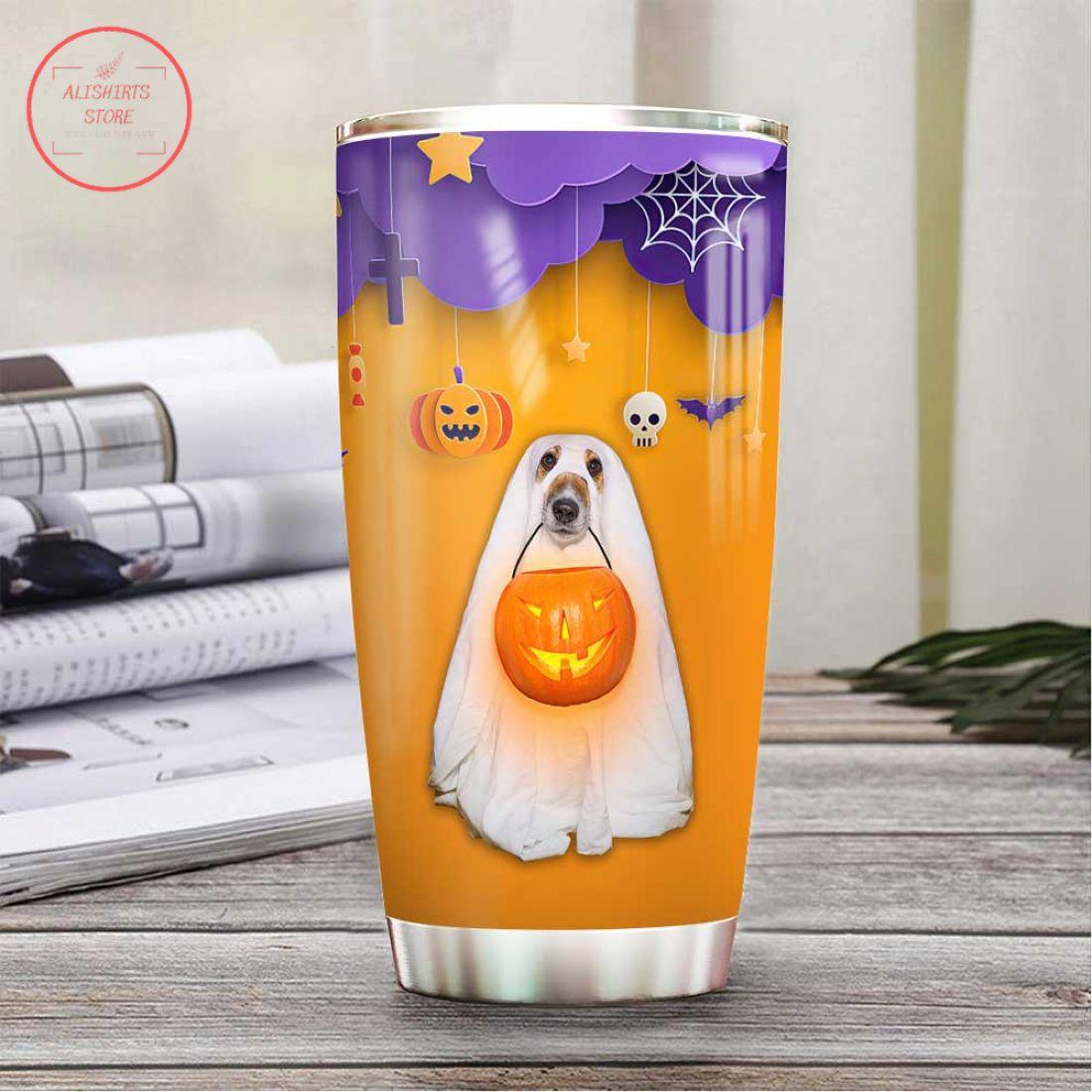 Dog Cosplay Boo Scary Pumpkin Trick Or Treat Halloween Tumbler