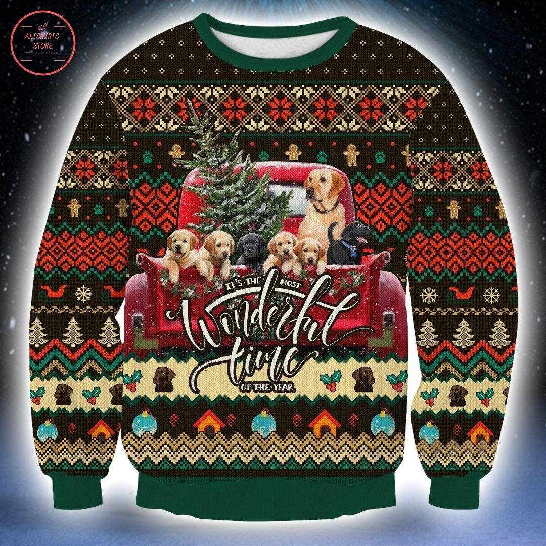 Dogs It's The Wonderful Time Of The Year Ugly Christmas Sweater