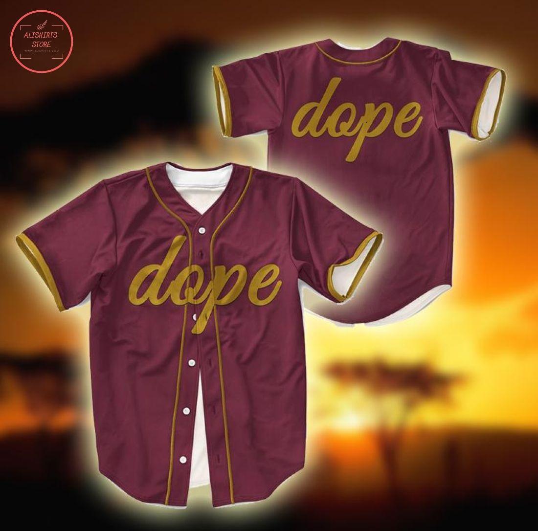 Dope Custom Number Baseball Jersey