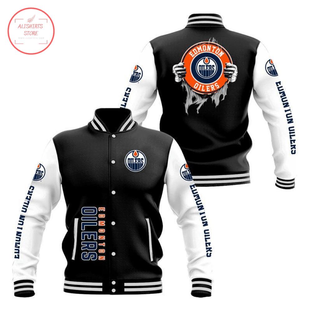 Edmonton Oilers 3D Baseball Jacket