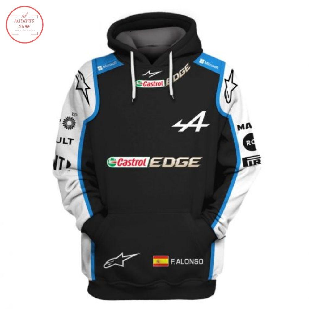 F1 Racing Team Alpine Custom Name Hoodie