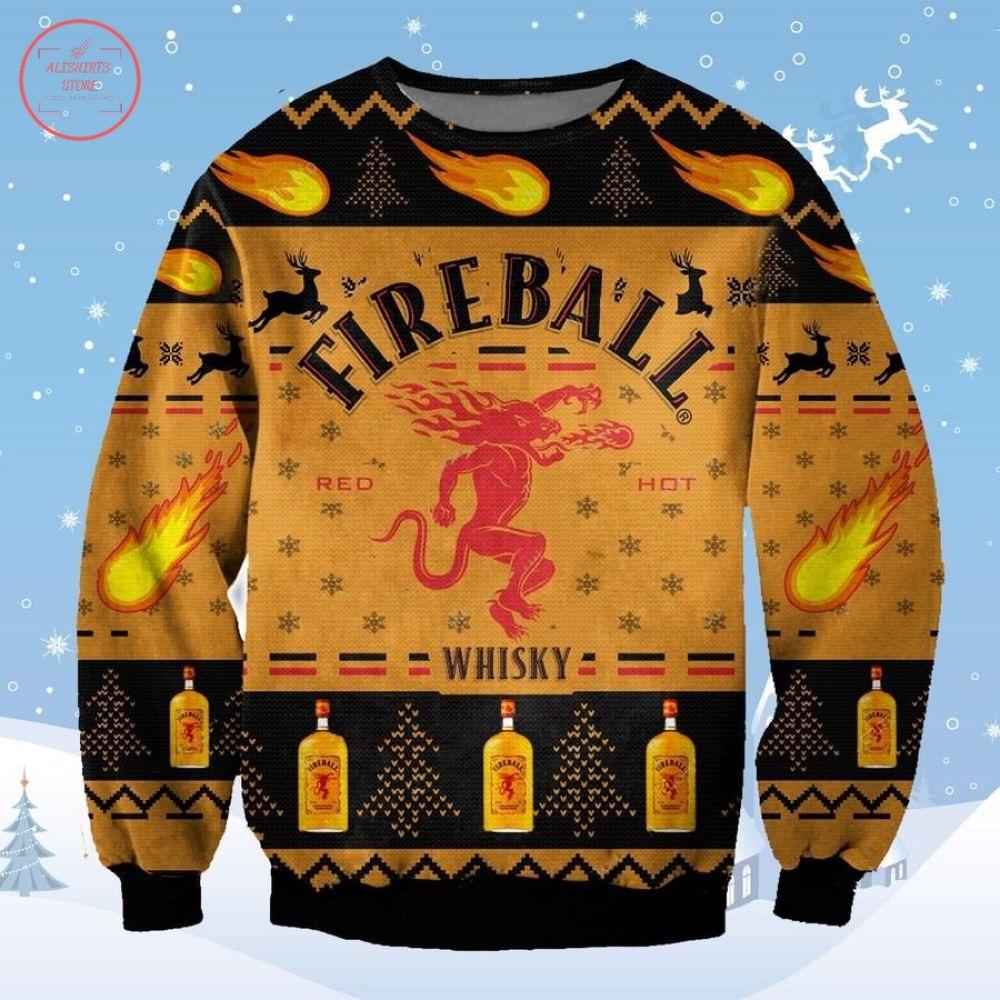 Fireball Whisky Christmas Ugly Sweater