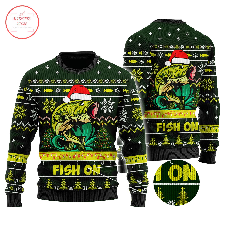 Fish on Christmast Sweater