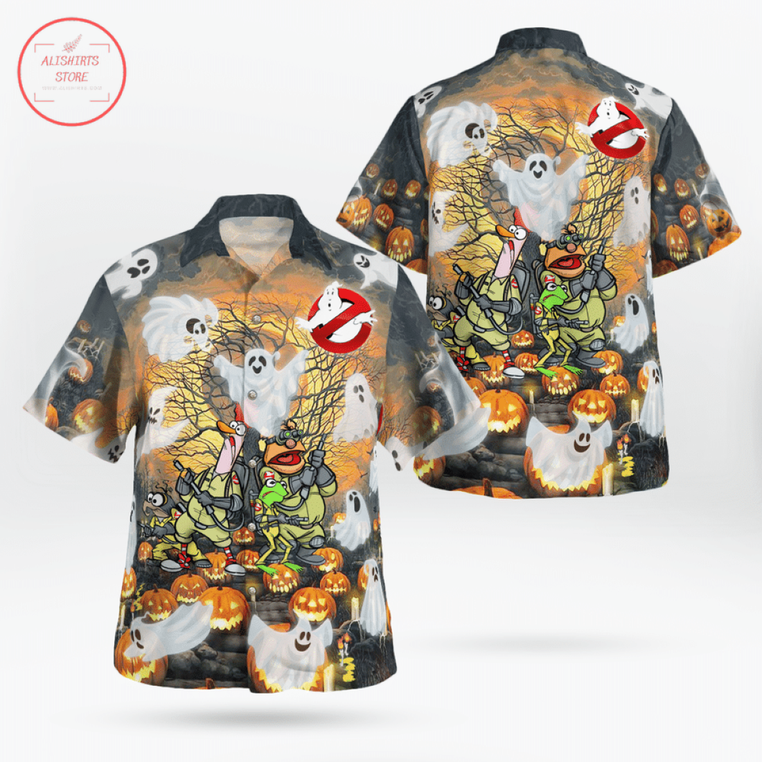 Ghost Mupperss Halloween Hawaiian Shirt