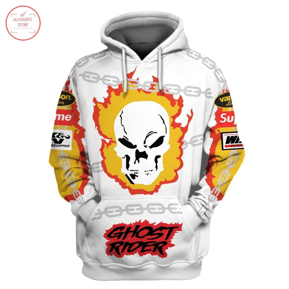 Ghost Rider Supreme Vanson Leathers Shirt and Hoodie