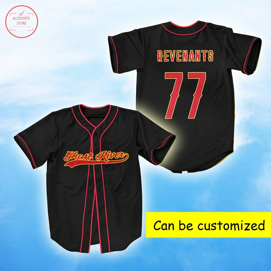 Ghost River Personalized Baseball Jersey