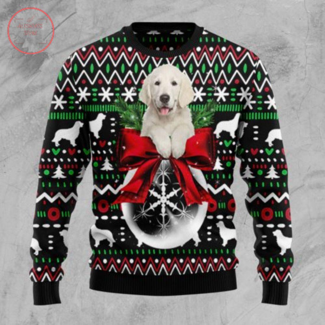 Golden Retriever Xmas Ball Christmas Wool Sweater