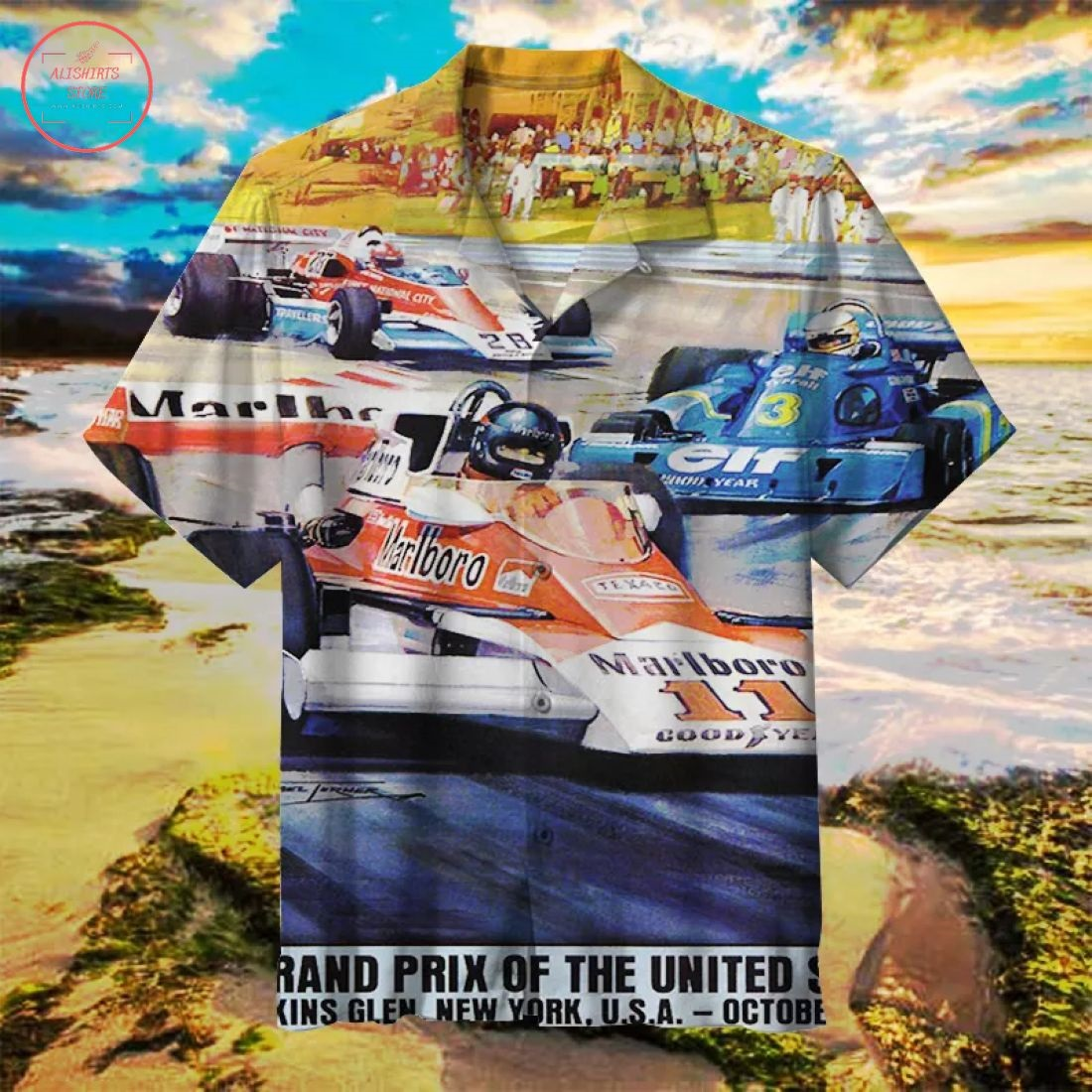 Grand Prix of the United States Hawaiian Shirt
