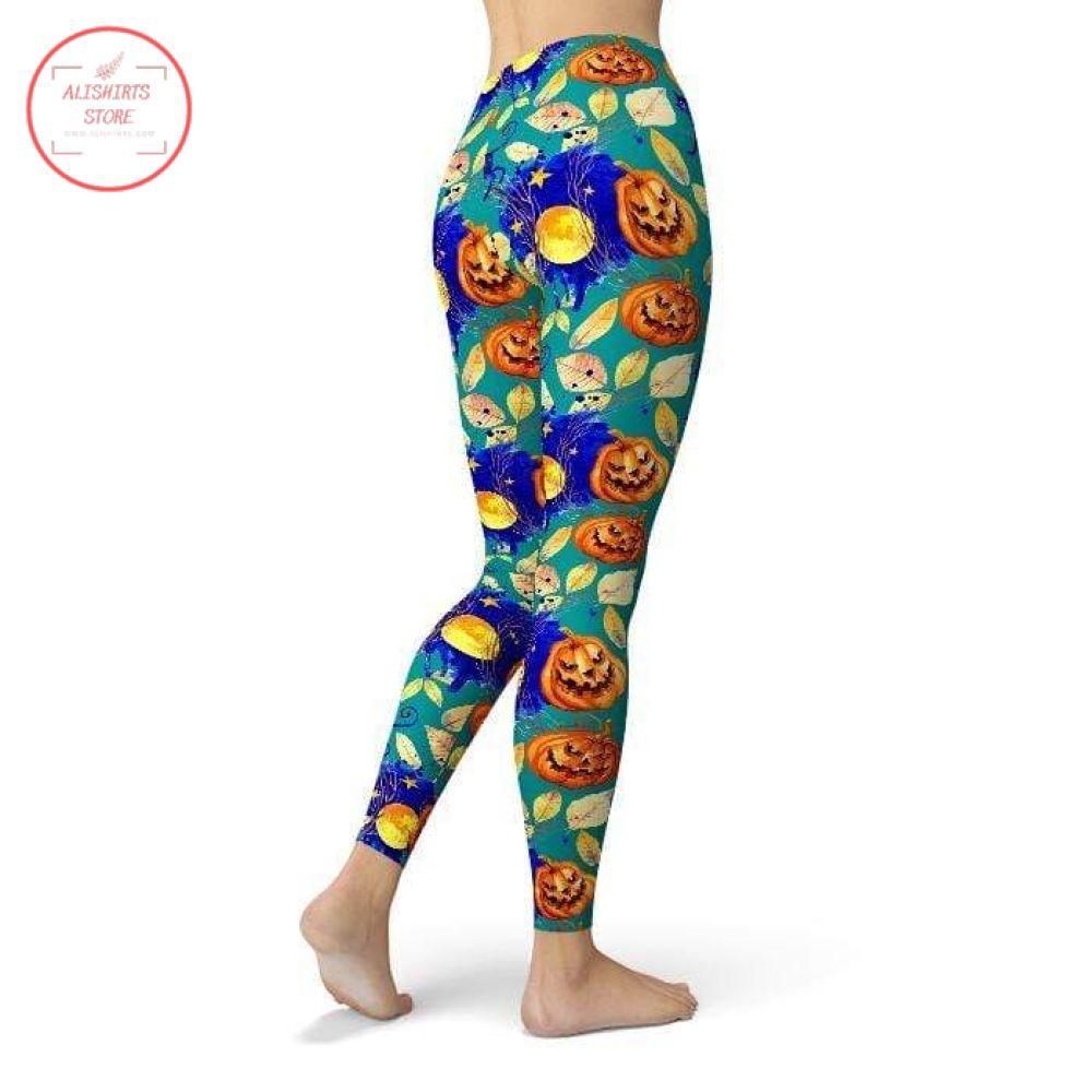 Halloween All Day Pumpkin Leggings