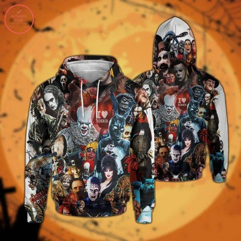 Halloween Horror Movie Killers 3D Hoodie