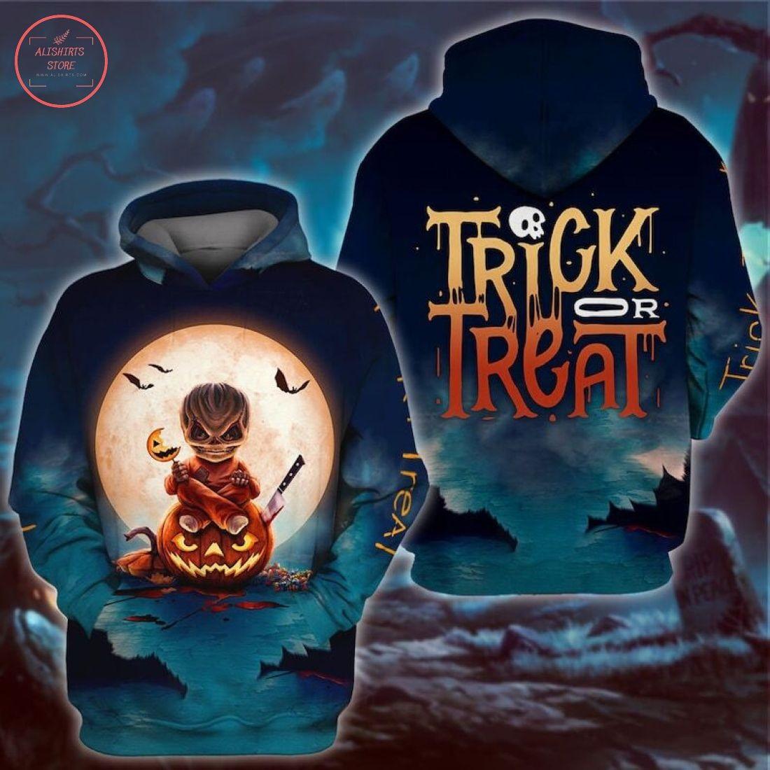 Halloween Horror Trick Or Treat 3D Hoodie