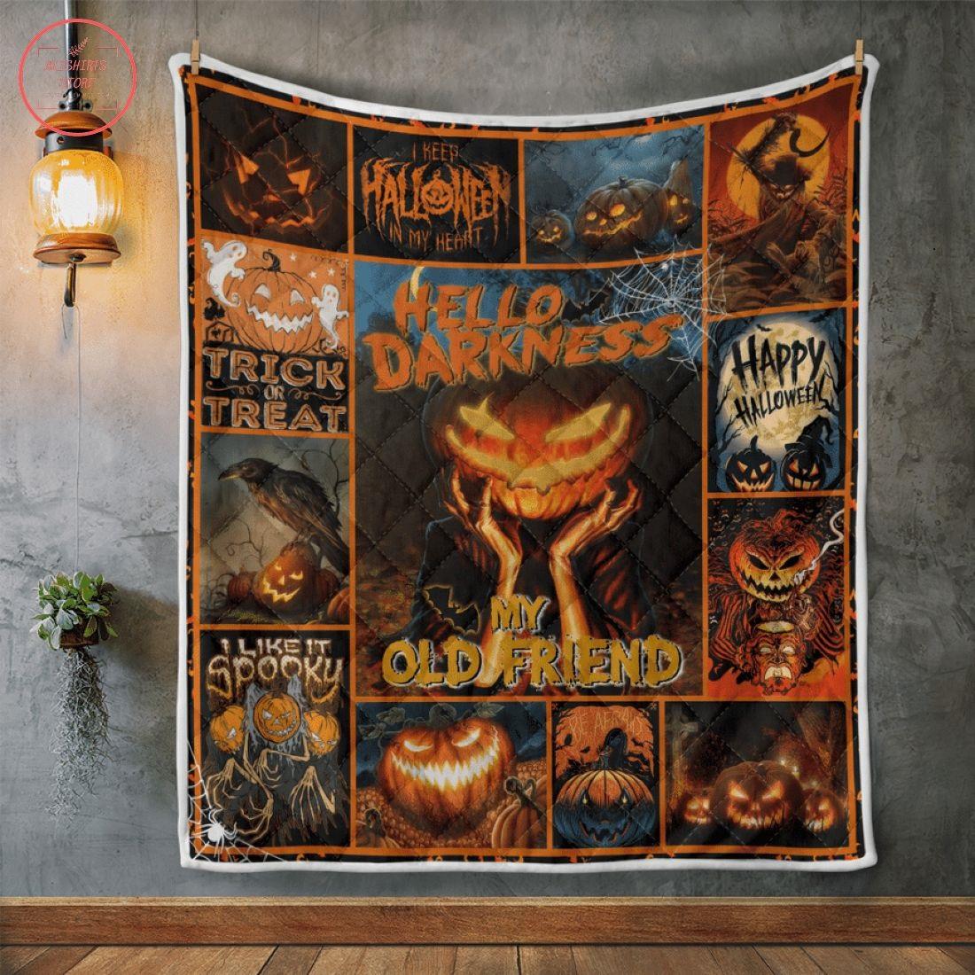 Hello Darkness My Old Friend Halloween Blanket