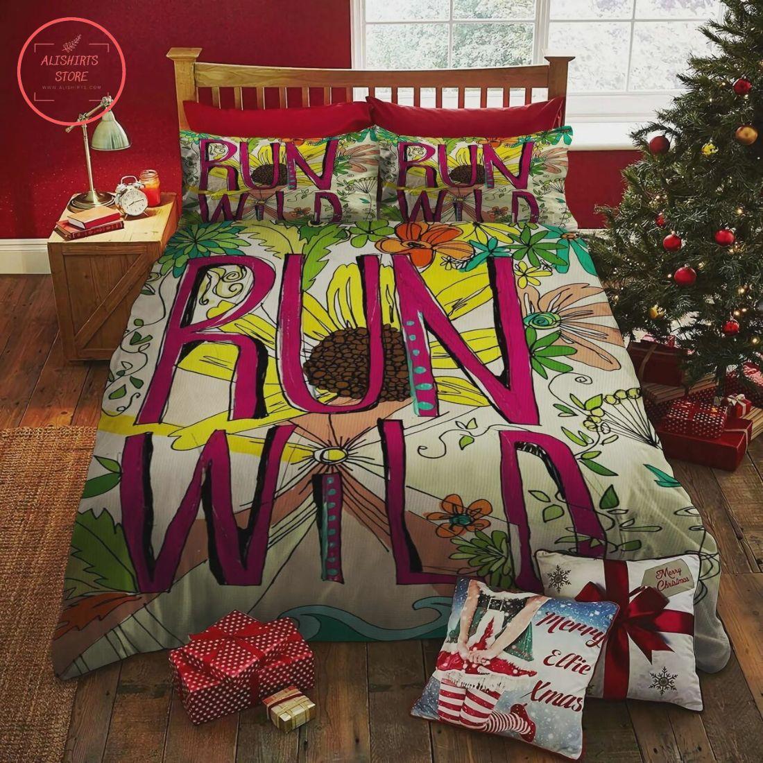 Hippie Run Wild Flower Christmas Bedding Set
