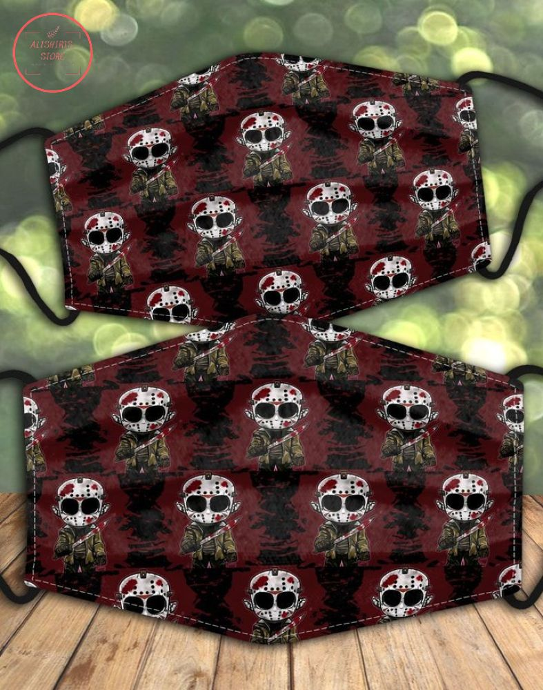 Horror Chibi Friday The 13th Face Mask Halloween