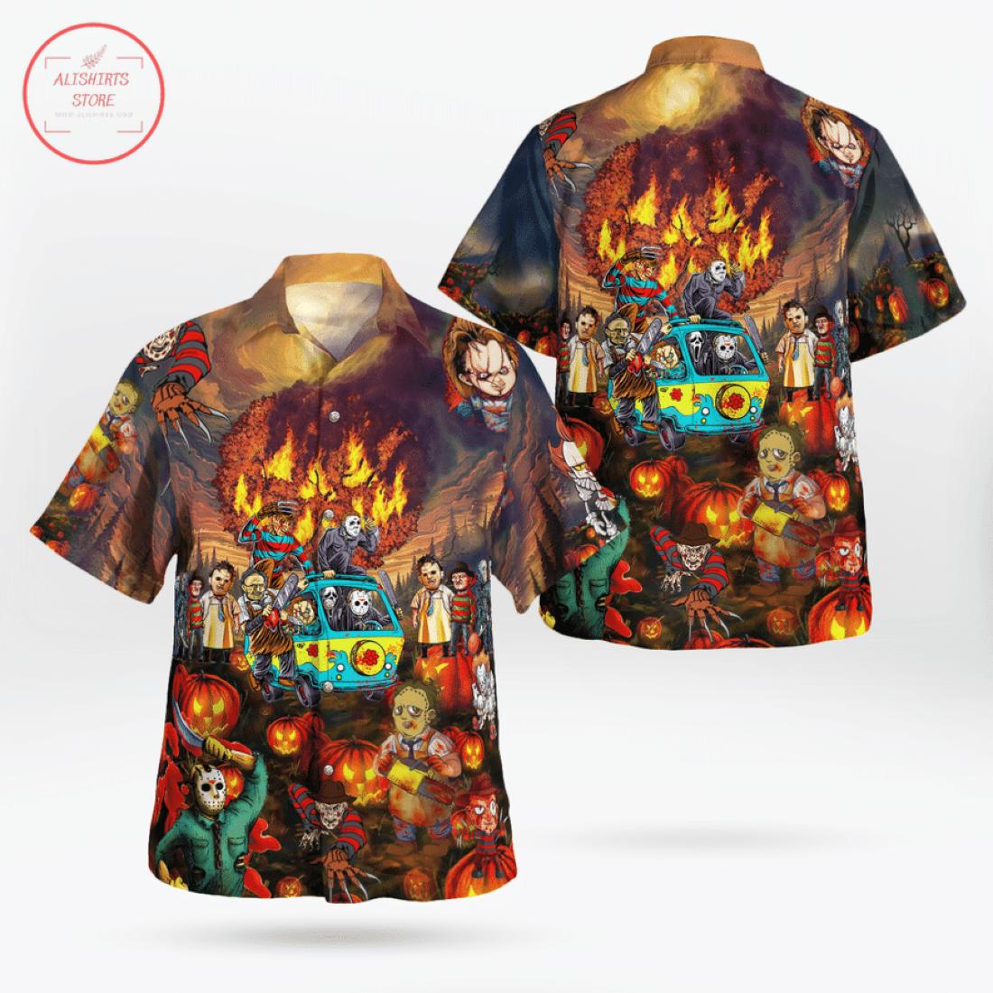 Horror Movie Halloween Hawaiian Shirt