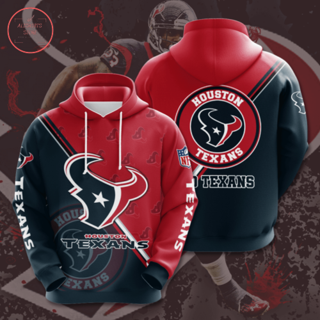 Houston Texans Personalized NFL Hoodie 3D