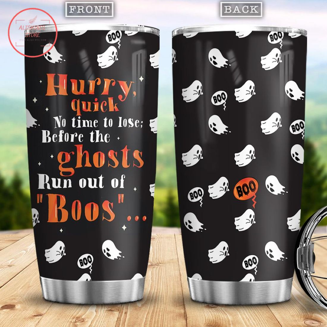 Hurry Quick No Time To Lose Halloween Stainless Tumbler