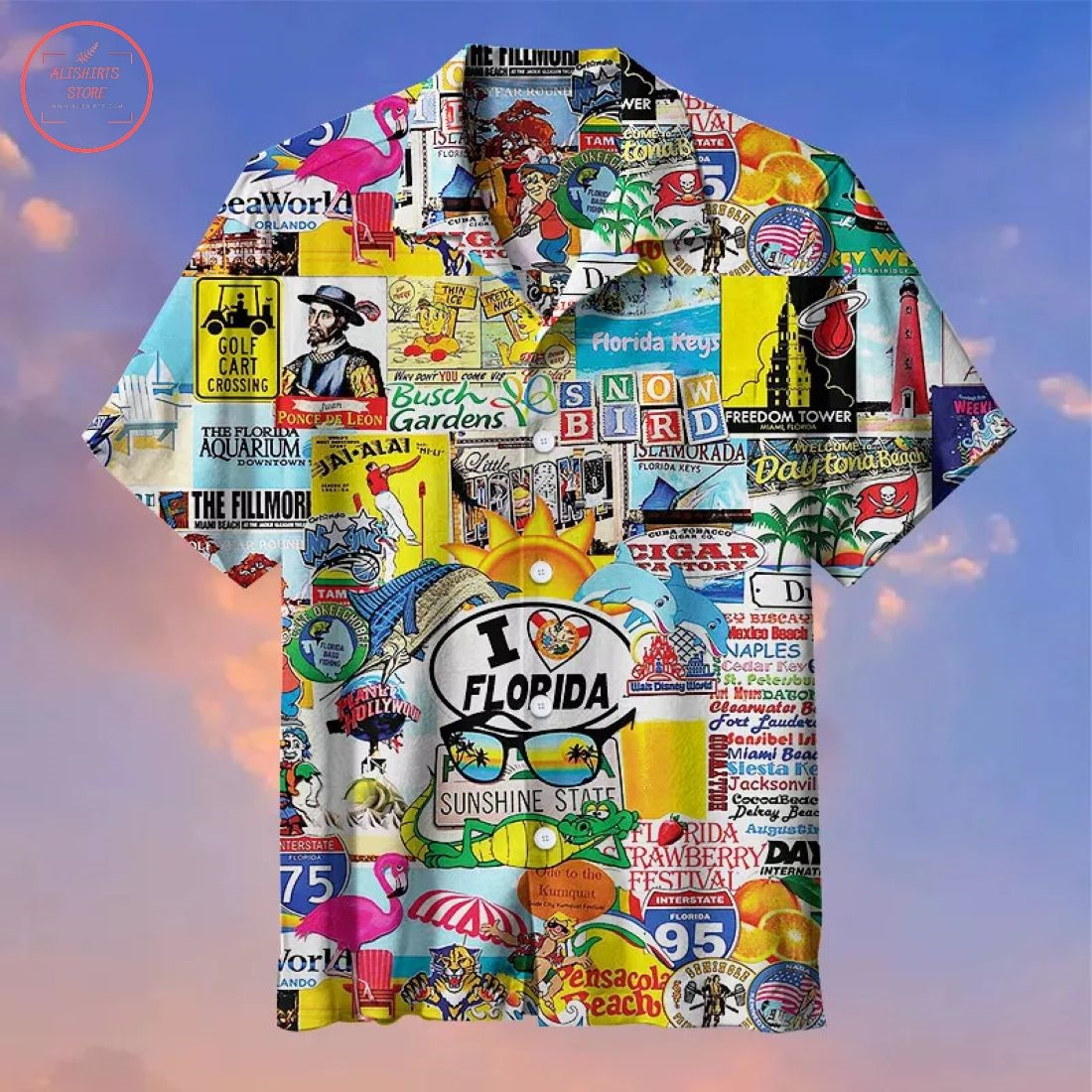 I Love Florida Hawaiian Shirt