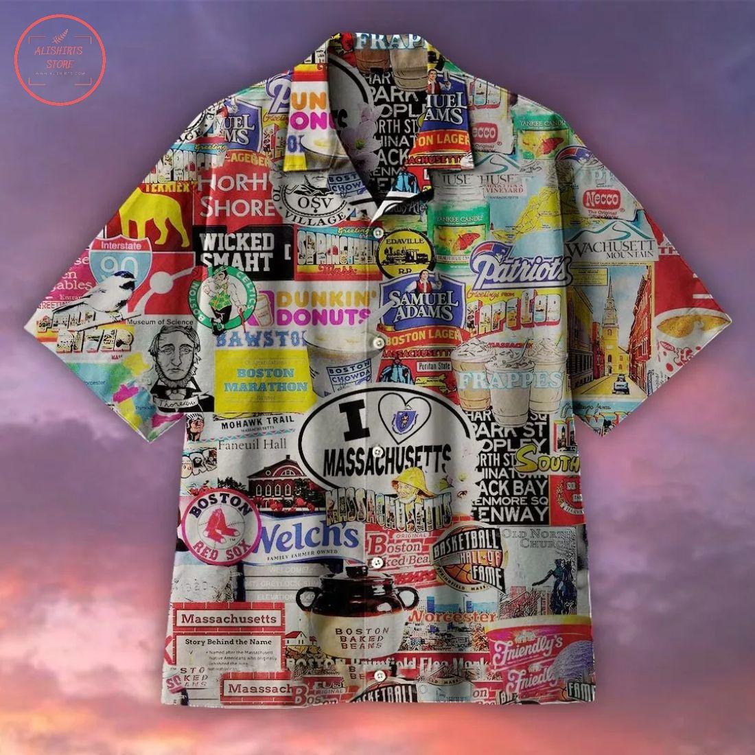 I Love Massachusetts Hawaiian Shirt