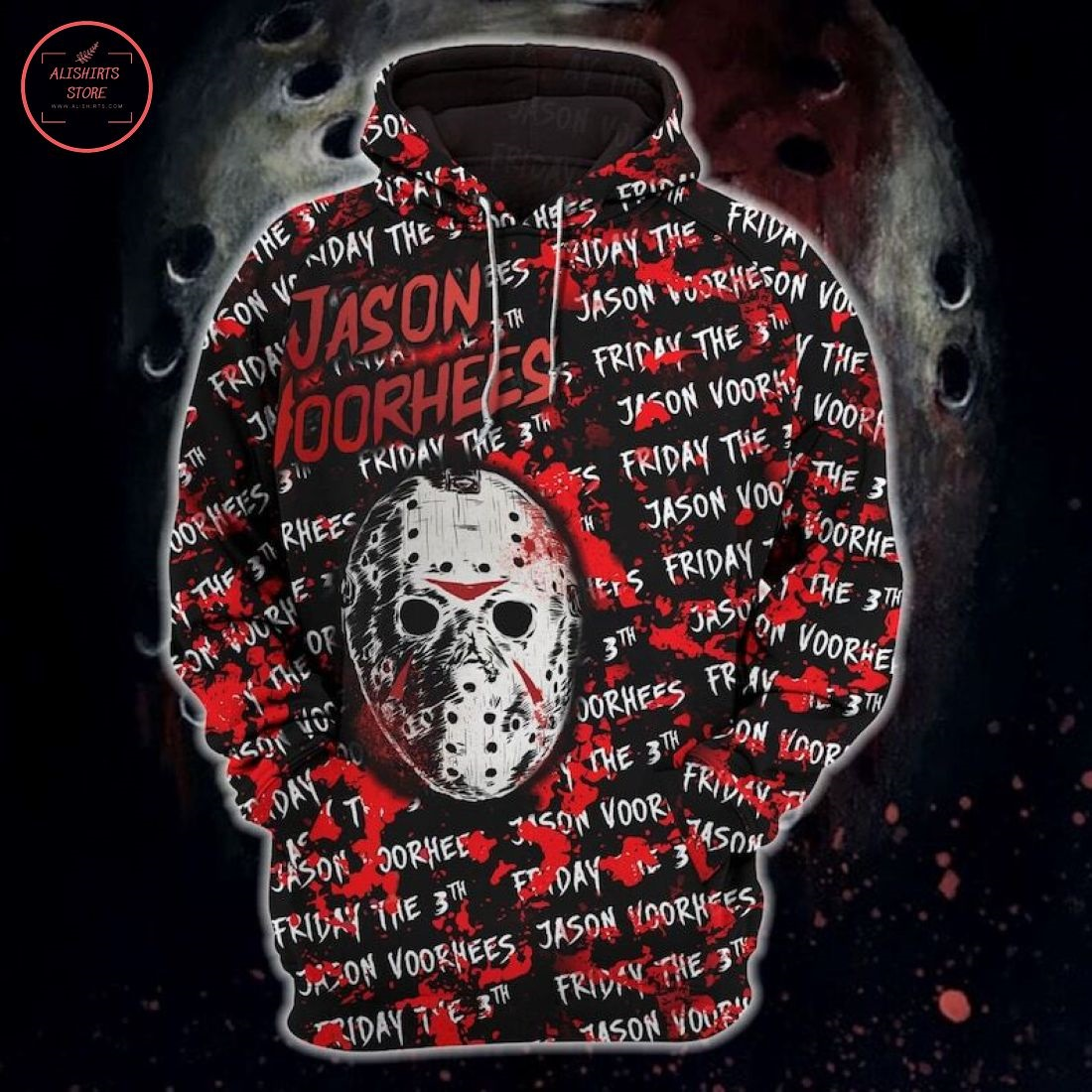 Jason Voorhees Horror Characters Halloween Hoodie