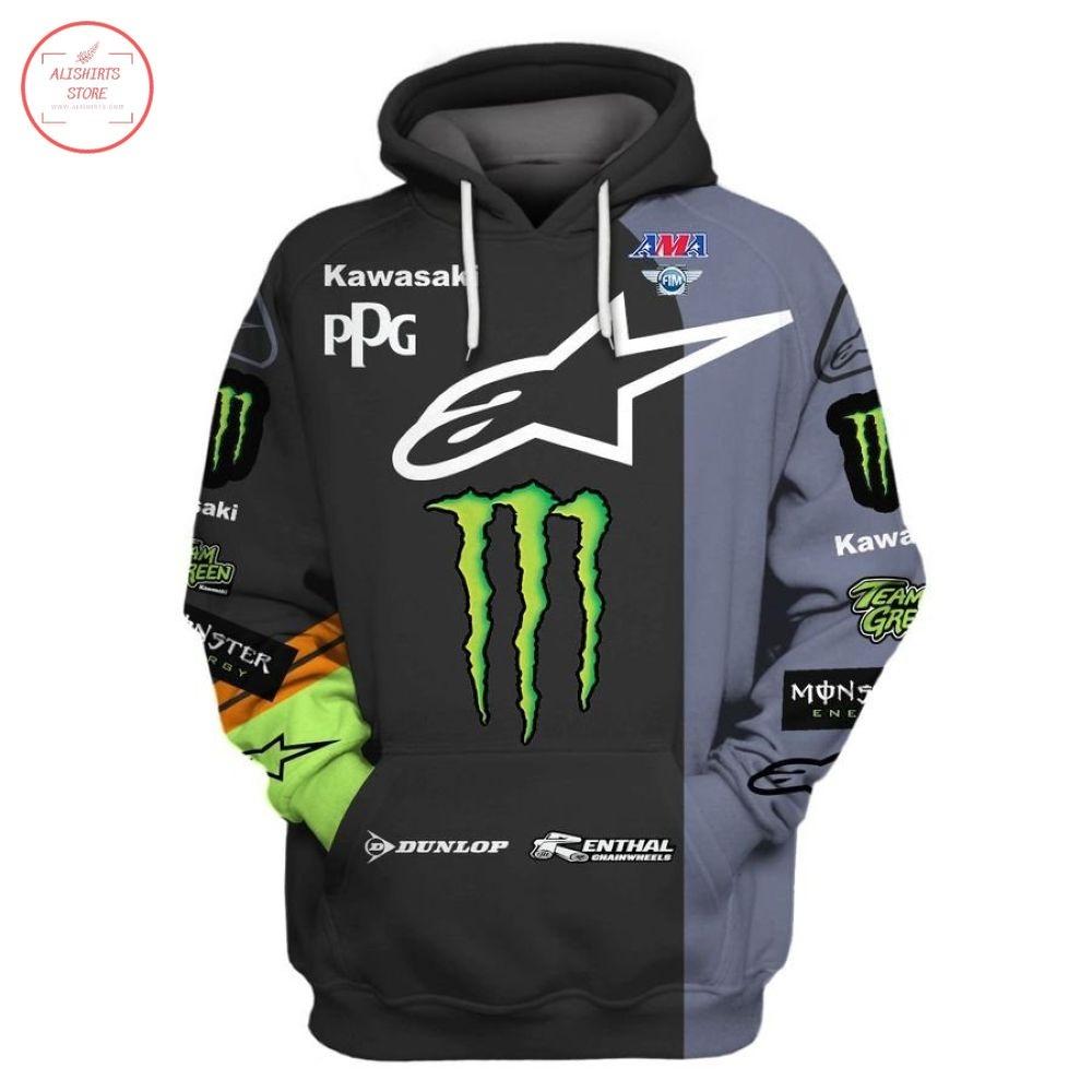 Kawasaki Monster Energy Racing Team Shirt and Hoodie