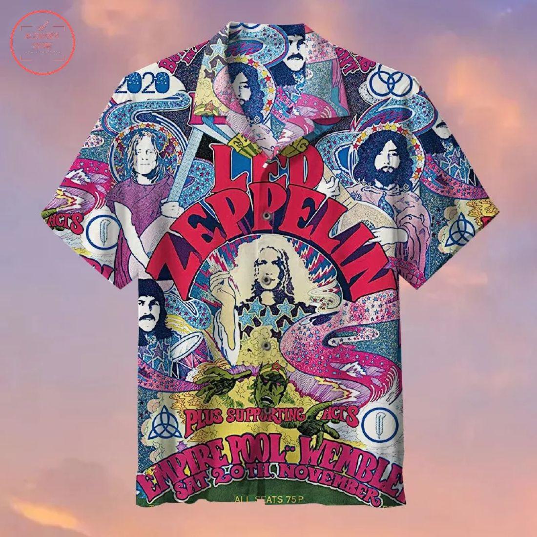 Led Zeppelin Creative Printing Hawaiian Shirt