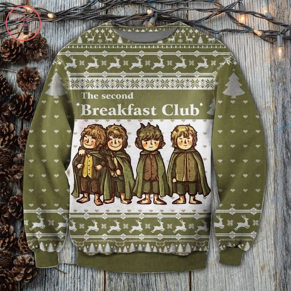 Lord Of The Rings Second Breakfast Ugly Christmas Sweater