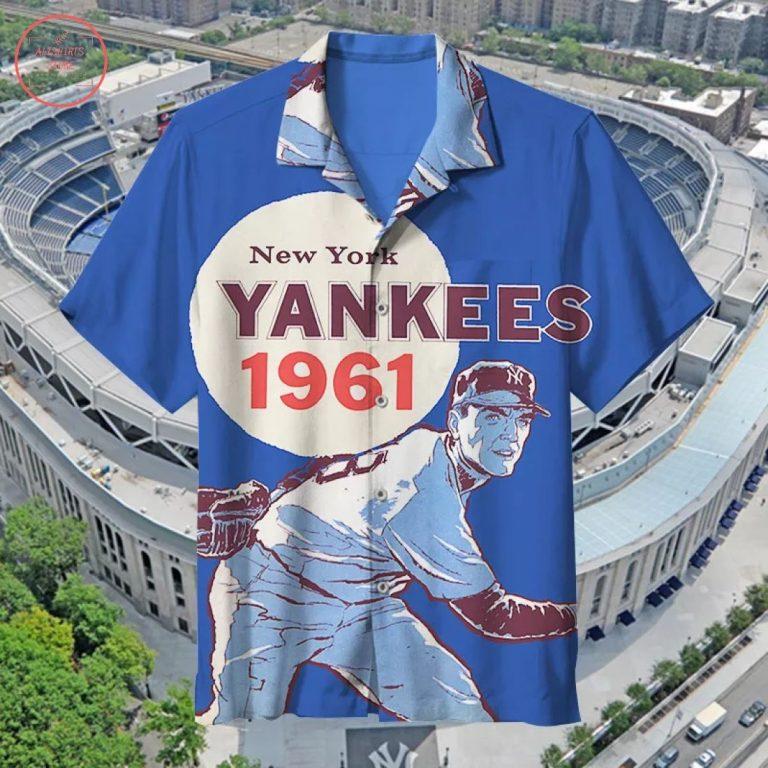 MLB 1961 New York Yankees Retro Hawaiian Shirt