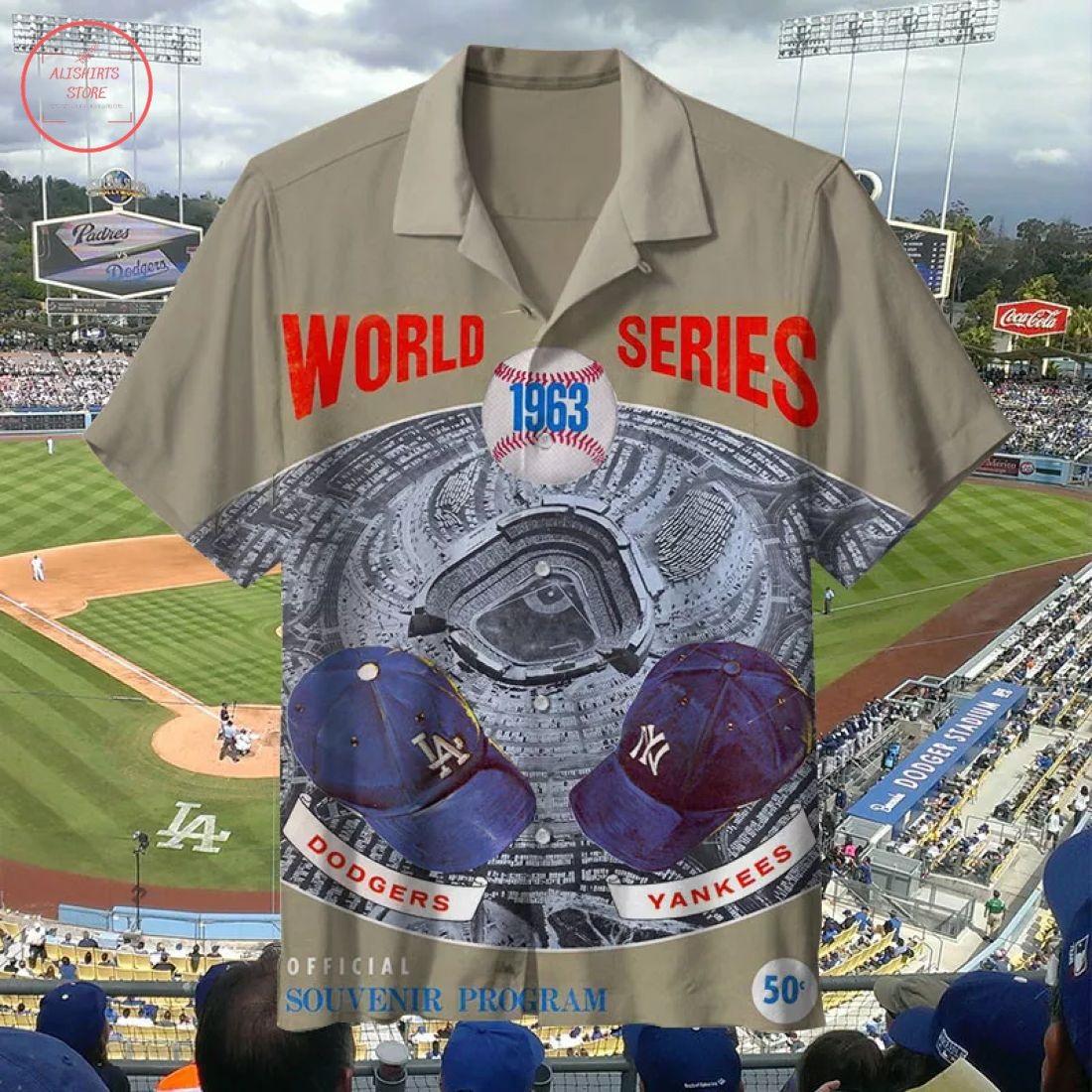 MLB 1963 Los Angeles Dodgers Retro Hawaiian Shirt