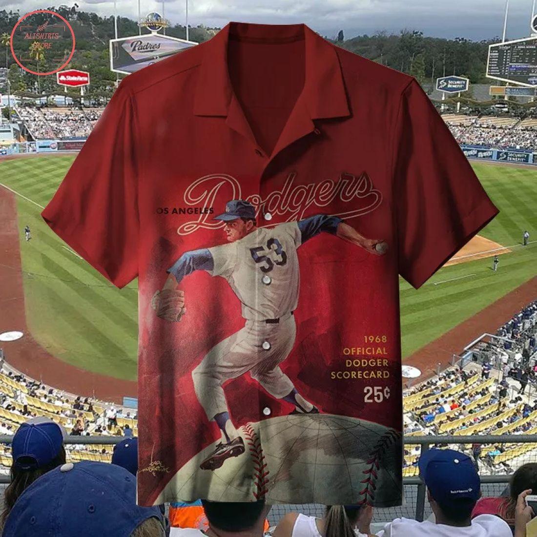MLB 1968 Los Angeles Dodge Hawaiian Shirt