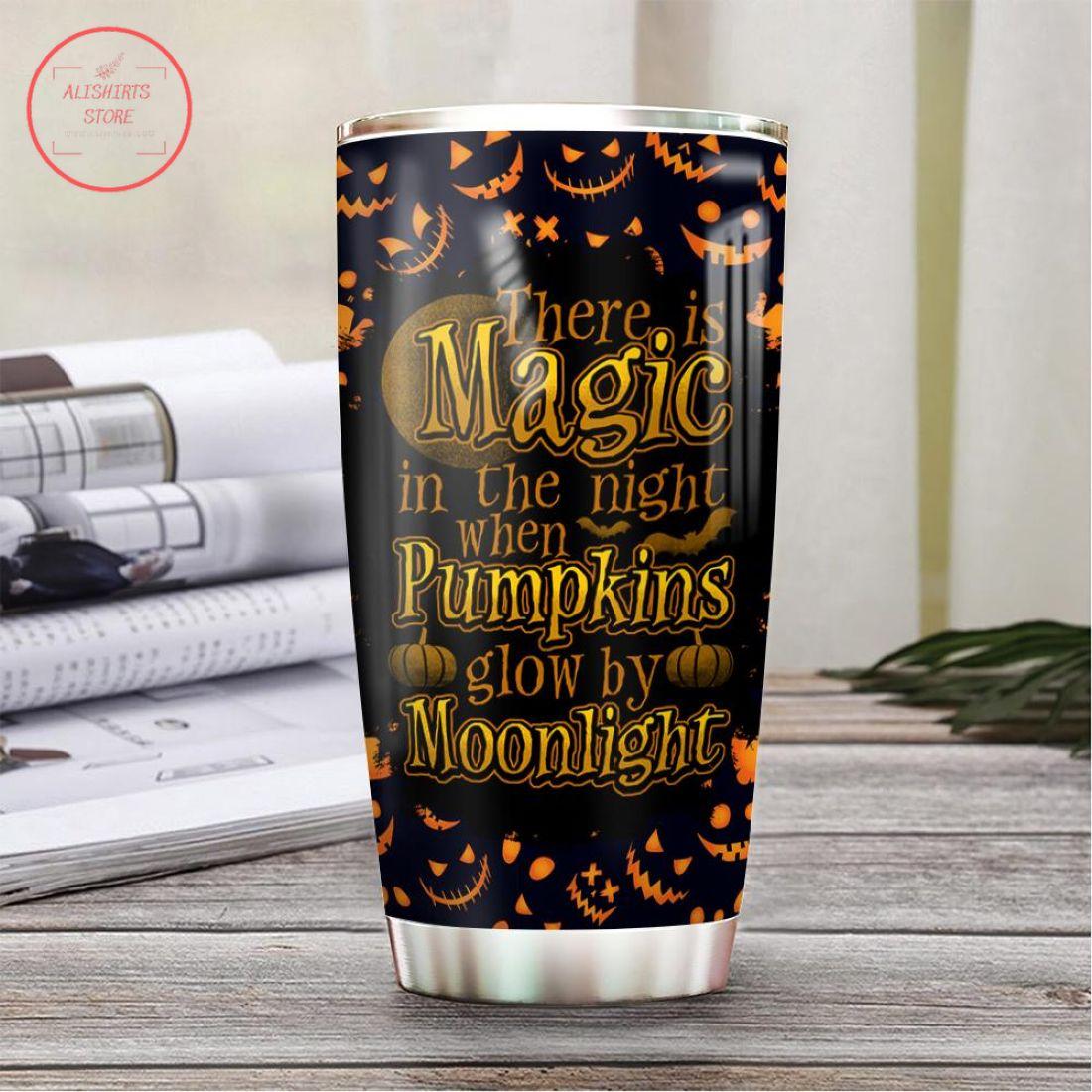Magic Moonlight Scary Pumpkin Halloween Tumbler