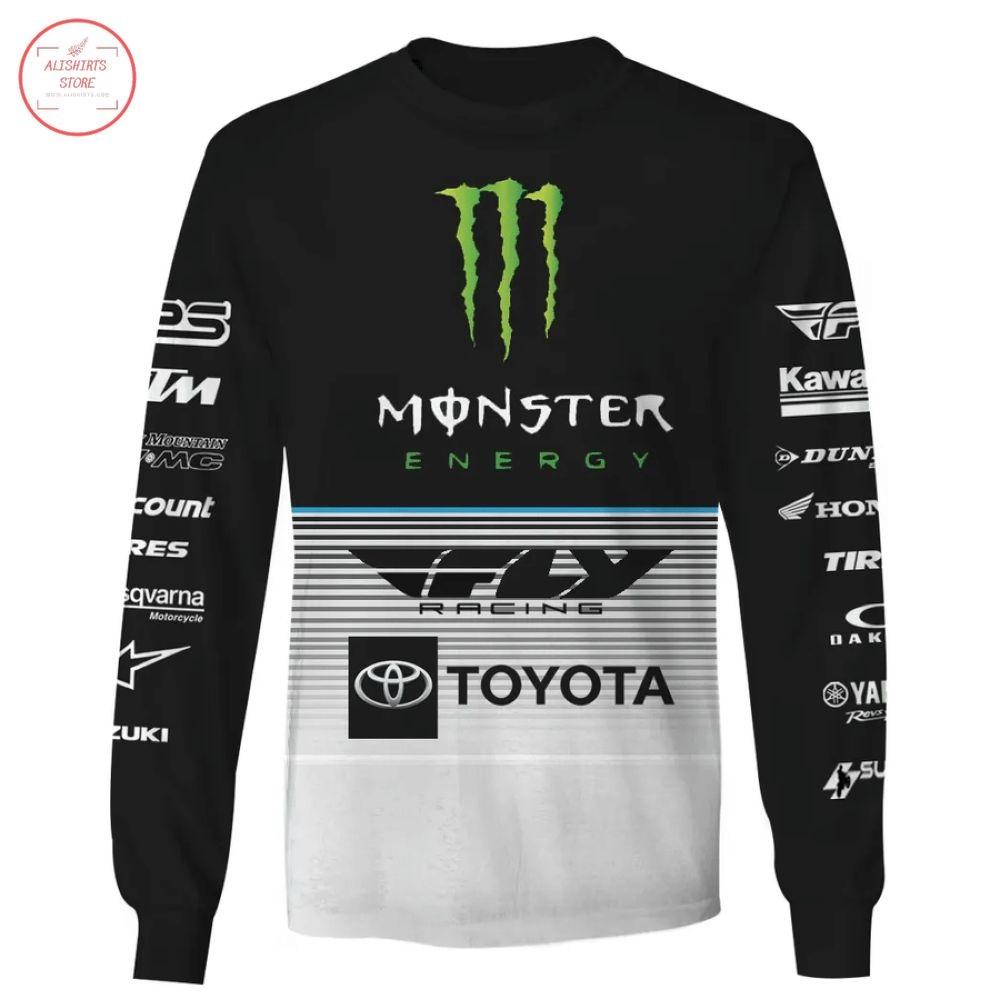 Monster Energy Fly Racing Team Toyota Shirt and Hoodie