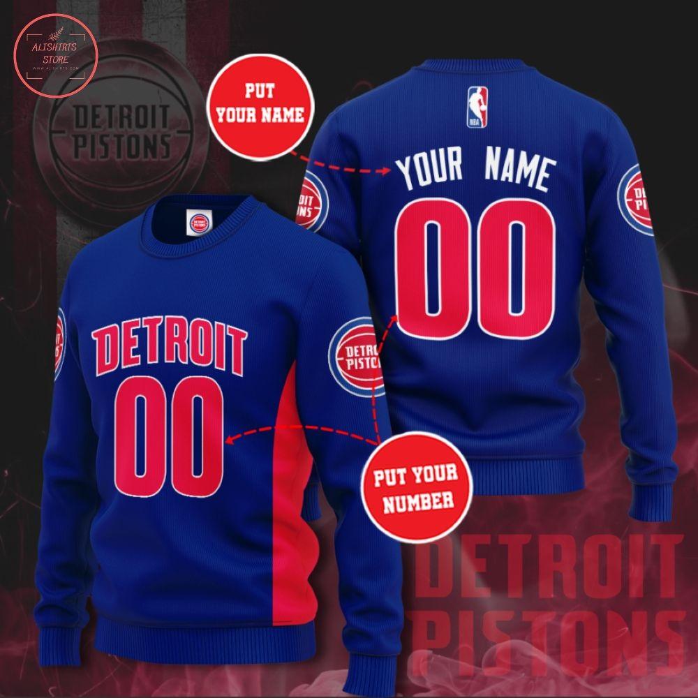 NBA Detroit Pistons Personalized Sweater