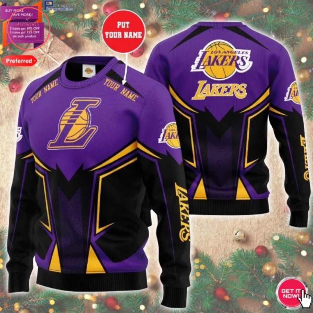 NBA Los Angeles Lakers Personalized Sweater