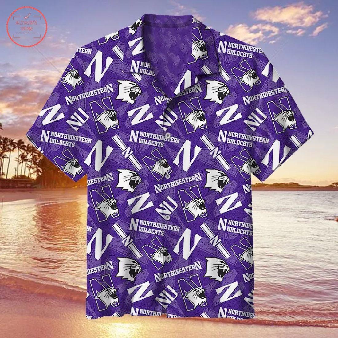 NCAA Northwestern Wildcats Hawaiian Shirt
