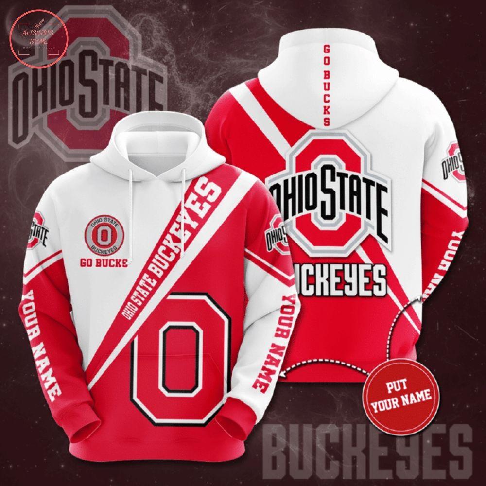 NCAA Ohio State Buckeyes Custom Name 3d Hoodie