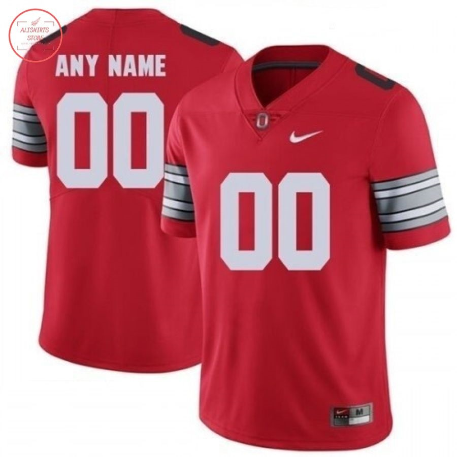 NCAA Ohio State Buckeyes Personalized Red Football Jersey