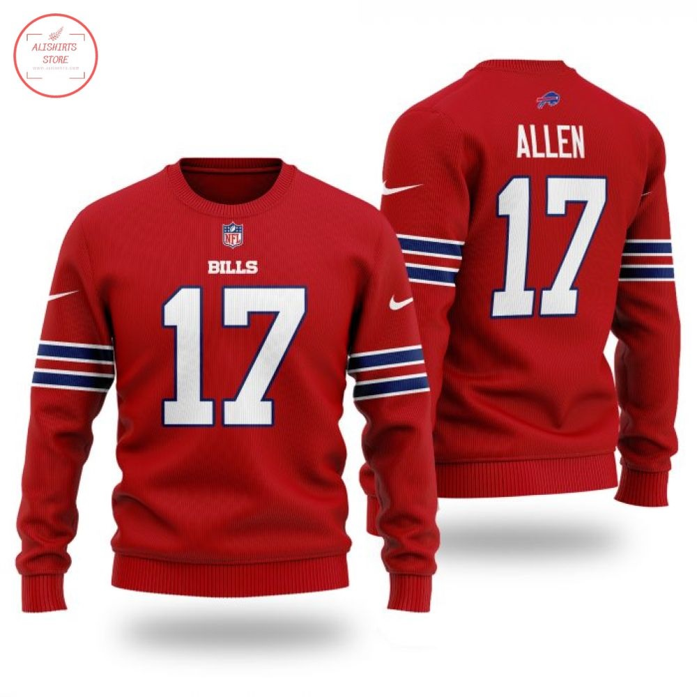 NFL Buffalo Bills 17 Allen Wool Sweater