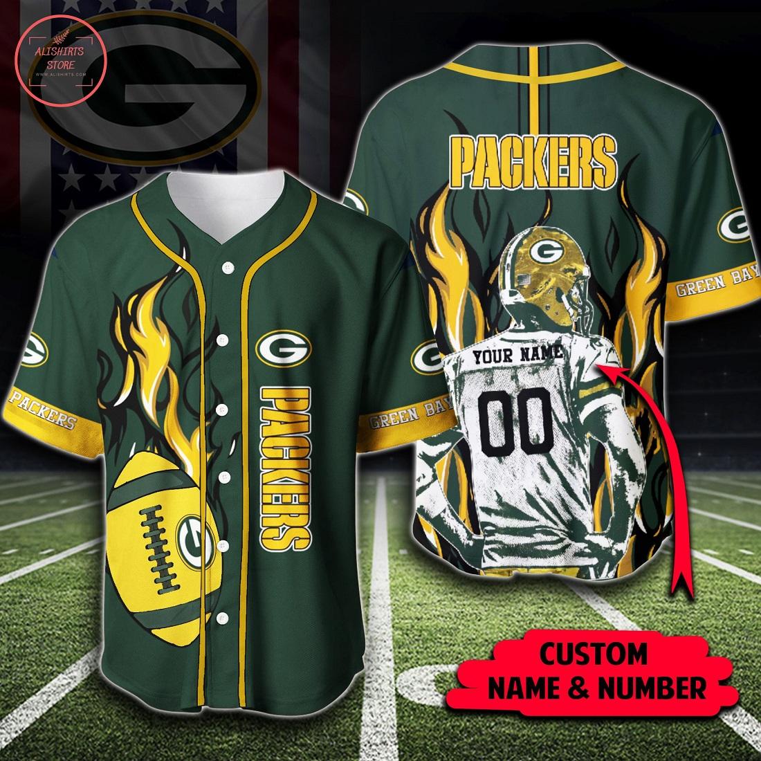 NFL Green Bay Packers Custom Baseball Jersey