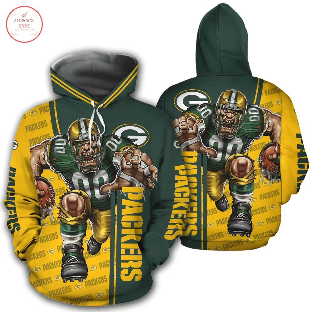 NFL Green Bay Packers Mascot design Hoodie 3D