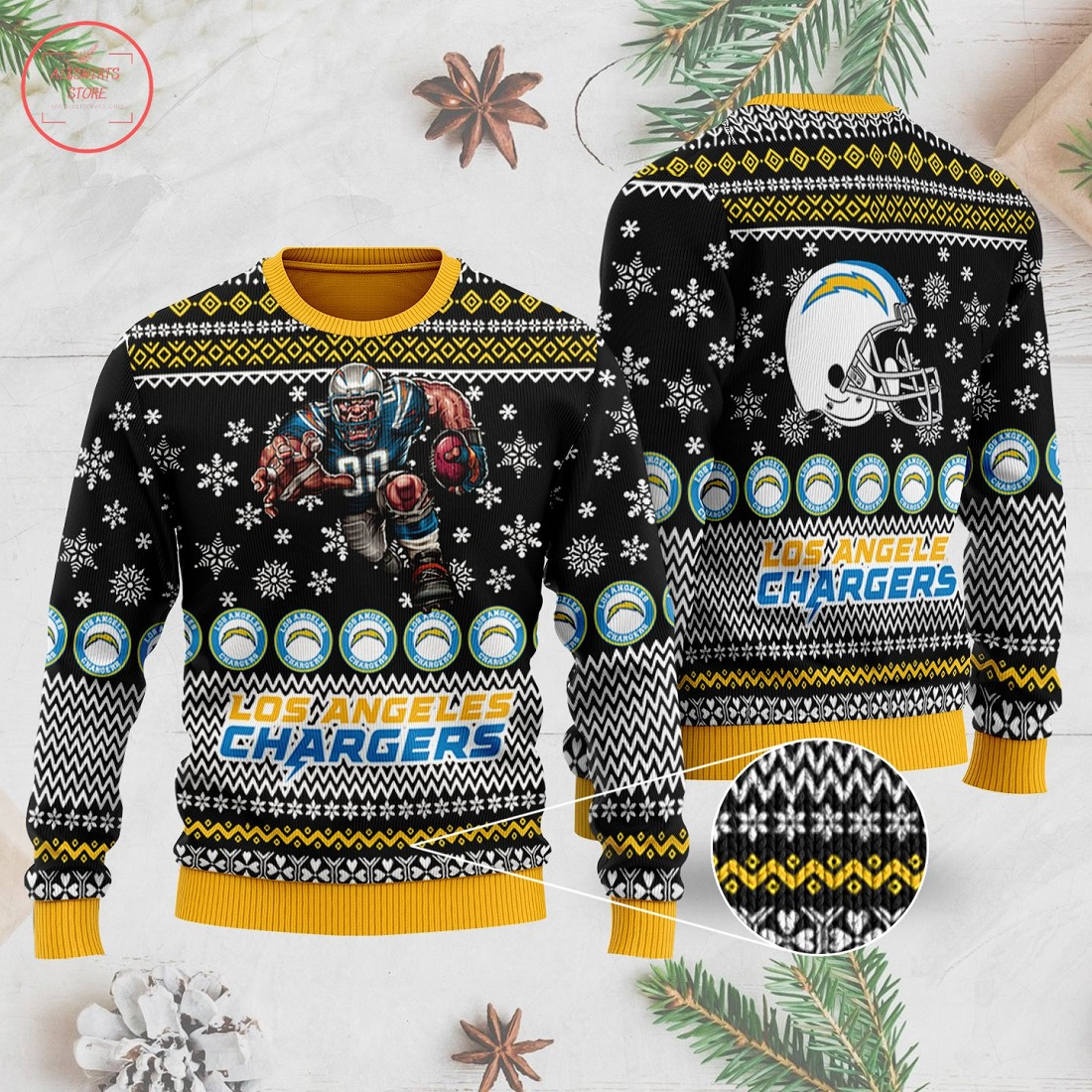 NFL Los Angeles Chargers Ugly Christmas Sweater